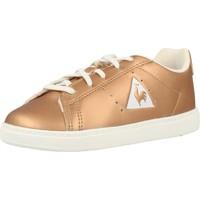 Zapatos Niña Zapatillas bajas Le Coq Sportif COURTONE INF METALLIC Oro