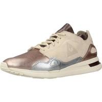 Zapatos Mujer Zapatillas bajas Le Coq Sportif S R FLOW W METALLIC LEATH Beige