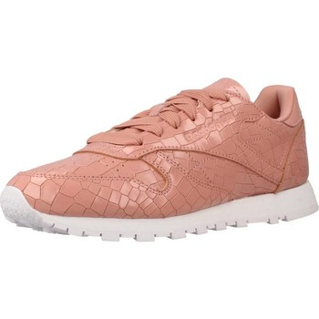 Zapatos Mujer Zapatillas bajas Reebok Sport CL LTHR CRACKLE Rosa