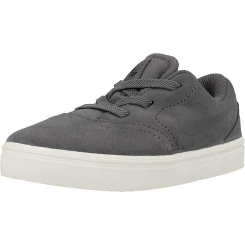 Zapatos Niño Zapatillas bajas Nike SB CHECK SUEDE Gris