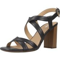 Zapatos Mujer Sandalias Geox D AUDALIES HIGH SAND Negro