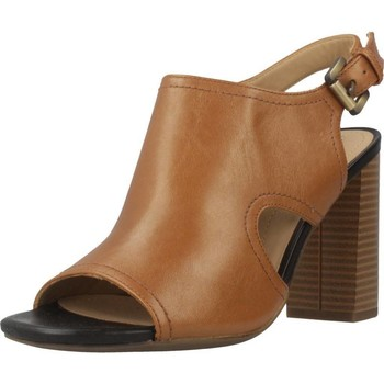 Zapatos Mujer Zuecos (Clogs) Geox D AUDALIES HIGH SAND Marron