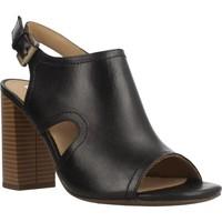 Zapatos Mujer Zuecos (Clogs) Geox D AUDALIES HIGH SAND Negro