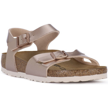 Zapatos Niña Sandalias Birkenstock RIO METALLIC LILAC Grigio