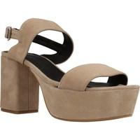 Zapatos Mujer Sandalias Angel Alarcon 17596 286 Beige