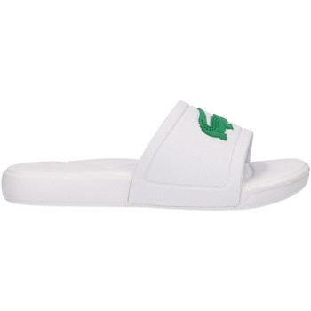 Zapatos Niños Zuecos (Mules) Lacoste 37CUC0011 L30 SLIDE 082 WHITE-GR Blanco