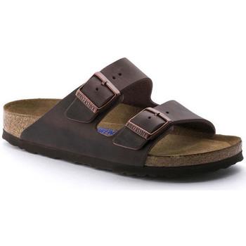 Zapatos Mujer Zuecos (Mules) Birkenstock Arizona sfb cuir gras Marrón