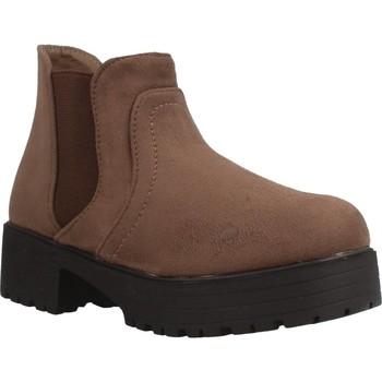 Zapatos Niña Botas de caña baja Different 4216 Marron