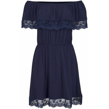 textil Mujer vestidos cortos Lascana Vestido de playa Holly  Navy Azul Marine