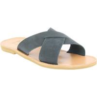Zapatos Hombre Zuecos (Mules) Attica Sandals ORION NUBUCK BLACK nero