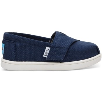 Zapatos Niños Alpargatas Toms Canvas Kid's Core Alpargata Navy