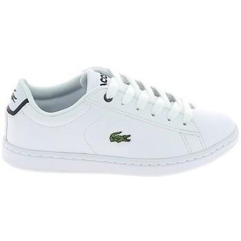 Zapatos Zapatillas bajas Lacoste Carnaby Evo BL C Blanc Marine Blanco