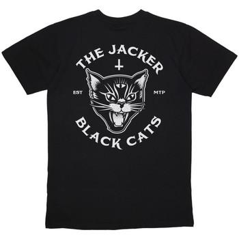 textil Hombre camisetas manga corta Jacker Black cats Negro