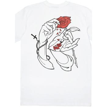 textil Hombre camisetas manga corta Jacker Holy roses Blanco