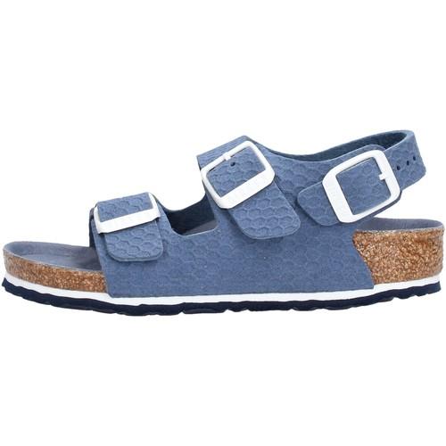 Birkenstock - Milano blu 1012639 BLU - Zapatos Zuecos (Mules) Nino