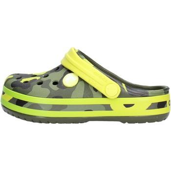 Zapatos Niño Zuecos (Clogs) Crocs - Crocband verde mimet 205532 VERDE