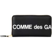 Bolsos Mujer Cartera Comme Des Garcons Portafoglio Huge Logo zip around in pelle nera Negro