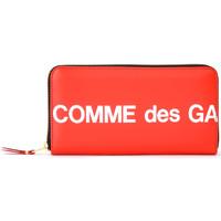 Bolsos Mujer Cartera Comme Des Garcons Cartera  Huge Logotipo cremallera Rojo