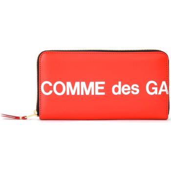Bolsos Mujer Cartera Comme Des Garcons Cartera  Huge Logotipo cremallera de Rojo