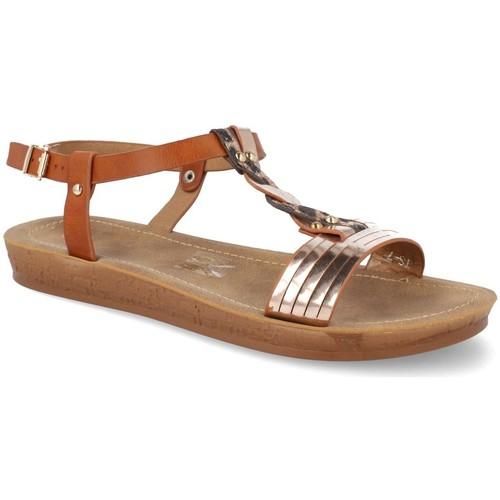 Aimy TS-7 Camel - Envío gratis | ! - Zapatos Sandalias Mujer