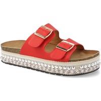 Zapatos Mujer Zuecos (Mules) Festissimo YT5546 Rojo