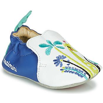 Zapatos Niña Pantuflas Catimini COLIMA Blanco / Azul