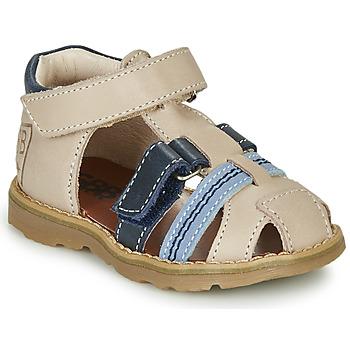 Zapatos Niño Sandalias GBB DIMMI Beige / Azul