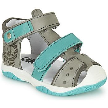 Zapatos Niño Sandalias GBB EUZAK Gris / Azul
