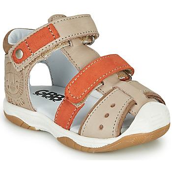 Zapatos Niño Sandalias GBB EUZAK Beige / Naranja