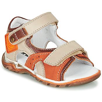 Zapatos Niño Sandalias GBB EROPE Beige / Naranja