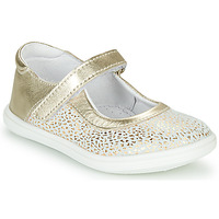 Zapatos Niña Bailarinas-manoletinas GBB PLACIDA Blanco / Oro