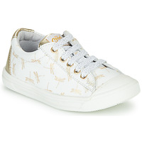 Zapatos Niña Zapatillas bajas GBB MATIA Blanco / Oro