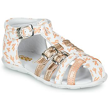 Zapatos Niña Sandalias GBB RIVIERA Blanco / Rosa