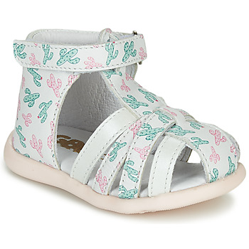 Zapatos Niña Sandalias GBB AGRIPINE Blanco / Verde / Rosa