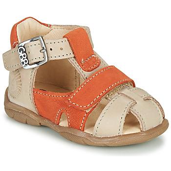 Zapatos Niño Sandalias GBB SEROLO Beige / Naranja