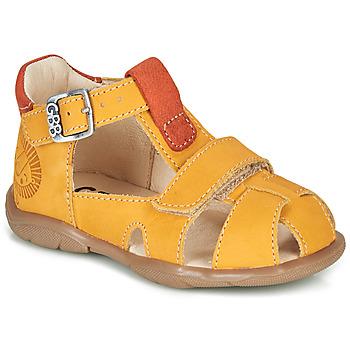 Zapatos Niño Sandalias GBB SEROLO Amarillo / Naranja