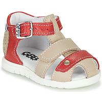Zapatos Niño Sandalias GBB BASILA Rojo / Beige