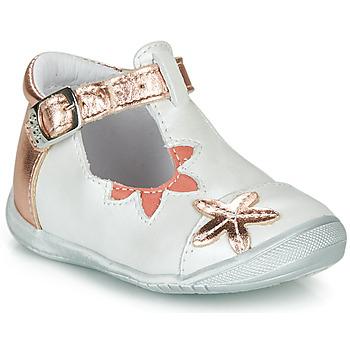 Zapatos Niña Bailarinas-manoletinas GBB ANAXI Blanco / Rosa / Gold