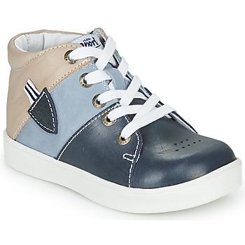 Zapatos Niño Zapatillas altas GBB AMOS Azul / Gris