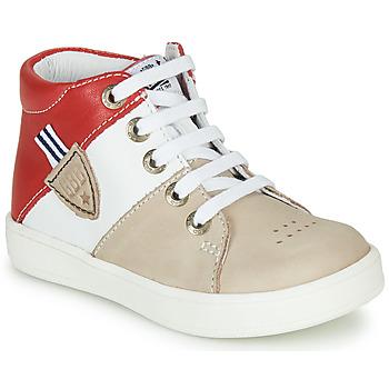 Zapatos Niño Zapatillas altas GBB AMOS Beige / Blanco / Rojo