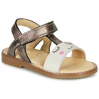 Zapatos Niña Sandalias GBB NAZETTE Beige / Bronce