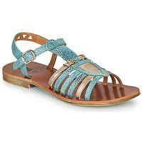 Zapatos Niña Sandalias GBB FANNI Azul / Oro