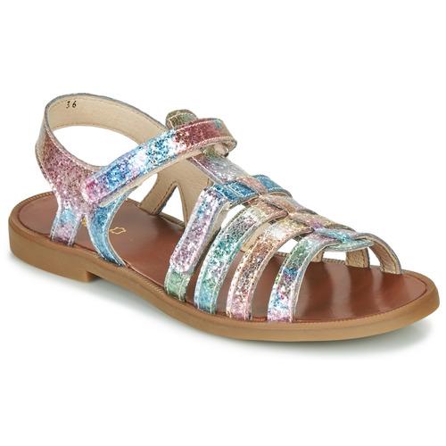 Zapatos Niña Sandalias GBB KATAGAMI Rosa / Multicolor