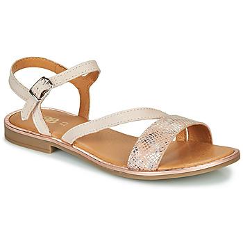 Zapatos Niña Sandalias GBB FANA Beige / Rosa