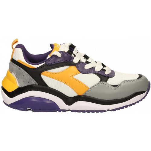 Zapatos Hombre Running / trail Diadora WHIZZ RUN c8221-viola-moro-giallo-citrus