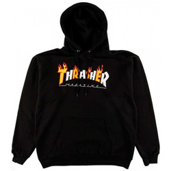 textil Hombre sudaderas Thrasher Sweat flame mag hood Negro