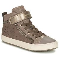 Zapatos Niña Zapatillas altas Geox KALISPERE Beige