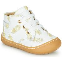 Zapatos Niña Zapatillas altas GBB ATARINA Blanco / Oro