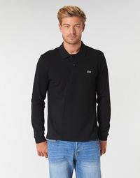 textil Hombre polos manga larga Lacoste L1312 Negro