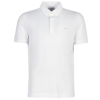 textil Hombre polos manga corta Lacoste PARIS POLO REGULAR Blanco